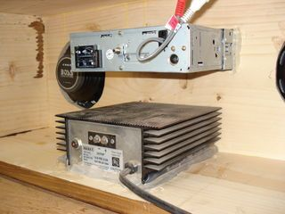 This is a homemade camping radio that I made from a piece of wood , A car stereo ,speakers and a power converter .The sound is...