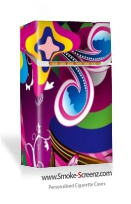 Funky design for a cigarette case designed at www.smoke-screenz.com