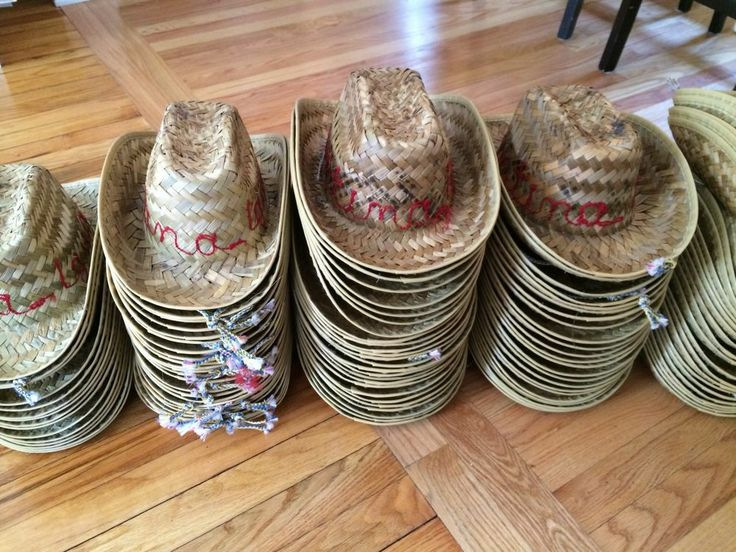 Straw Mexican Cowboy Hats - Lot of 110