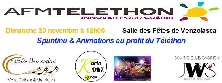 Spuntinu & Animations au profit du Téléthon VENZOLASCA Dimanche 20 novembre
