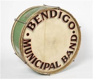 Google Image Result for http://www.bendigoartgallery.com.au/files/bb833d64-6bb5-49de-804d-a07700c4c48a/EMAIL_IMAGE_Bass_Drum_presented_by_Mesdames_E_Gilbert_and_E_Swift_1950_wood_skin_metal_Collection_of_the_City_of_Greater_Bendigo_Brass_Band.jpg%3Fw%3D300