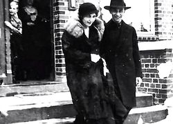 Magda and Joseph Goebbels following their wedding ceremony, December.19, 1931. In the doorway is Harald Quandt, Magda's son