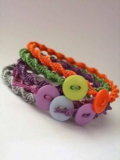 Macrame braceletMacrame Cheerful colors braceletAdjustable