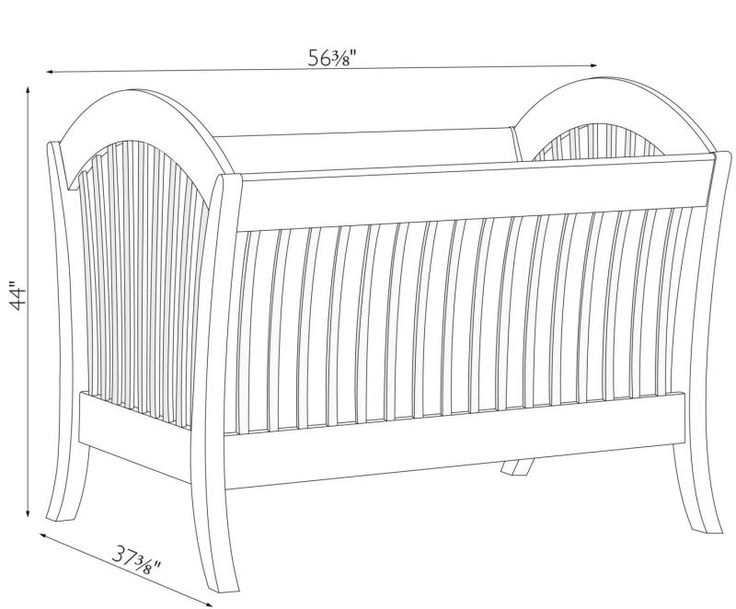 Baby Bed Mesurment : baby crib dimensions 99 - Baby Crib Dimensions for Your ...  Baby ...