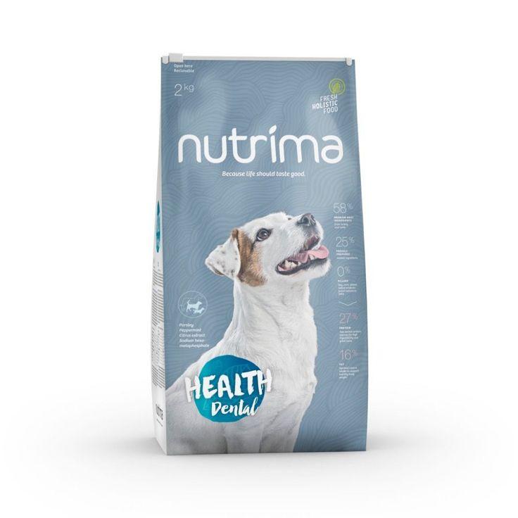 Nutrima Health Dental -koiranruoka. Holistinen ja funktionaalinen täysravinto sopii erityisen hyvin koirille, jotka kärsivät yleisistä suun ongelmista.