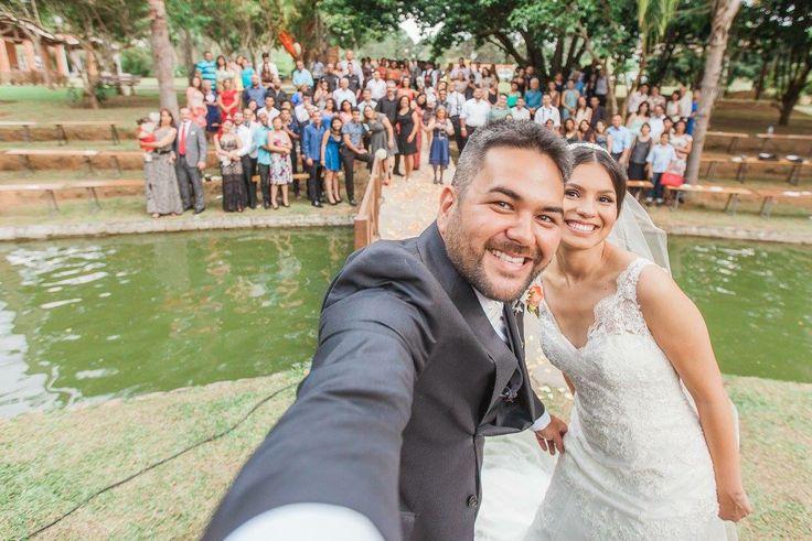 Selfie coletivo! Amanda e Ricardo!