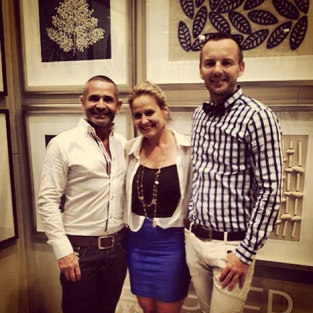 Our favourite duo behind the hand crafted @designerboys artwork with the lovely @shaynnablaze at the launch of their new catalogue at Sydney Decoration & Design. Contact us now for a copy! enquiries@boydblue.com *Available in QLD and NSW* #boydblue #designerboys #artwork #interiors #interiordesign #homedecor #handmade #shaynnablaze