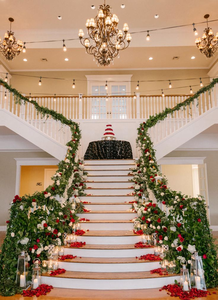 The 170 best wedding staircases decor images on pinterest wedding 20 unexpected wedding flower ideas junglespirit Images
