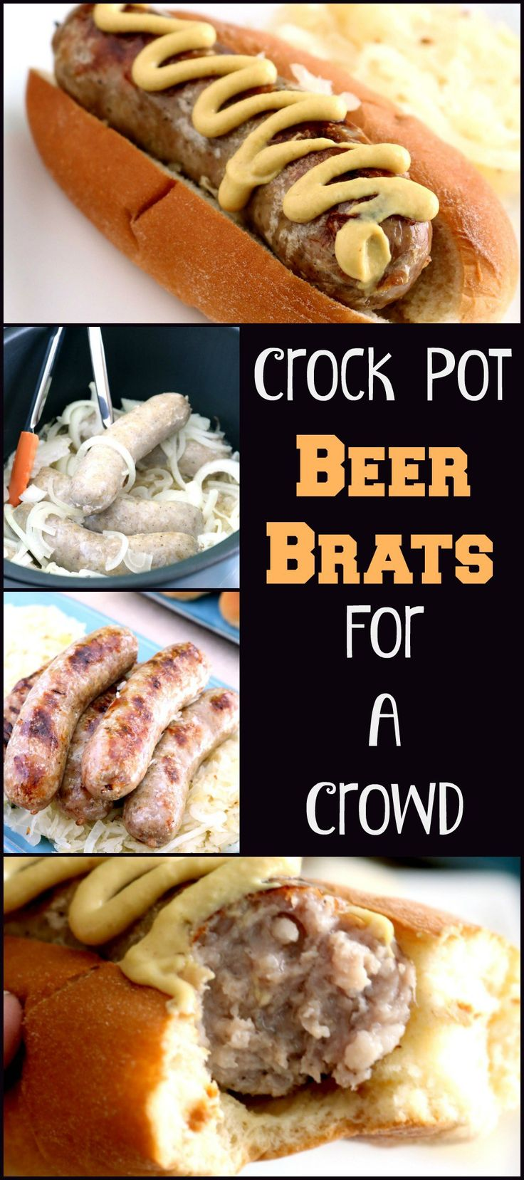 Don't waste precious time during the game tending to slow cooking brats on the grill! Crock Pot Beer Brats slow cook then just need a minute on the grill!