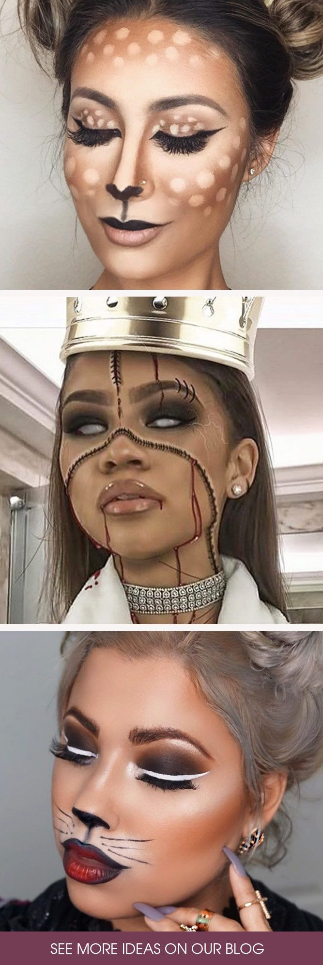 Halloween makeup ideas are extremely versatile and sometimes it becomes difficult to choose the best one. Worry not, all the best looks are gathered here!