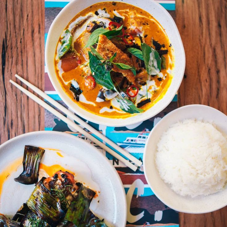 You can't do Chin Chin without curry. Aromatic Yellow Curry of Roast Pork w. Pumpkin, Beans + Cucumber Pickle. #chinchinmelb