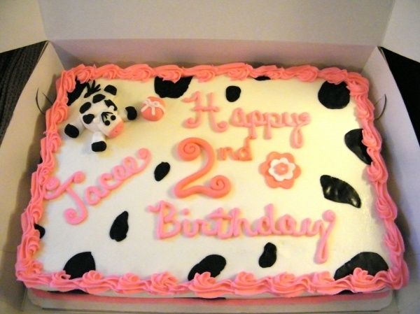 Sweet Girly Cow Cake