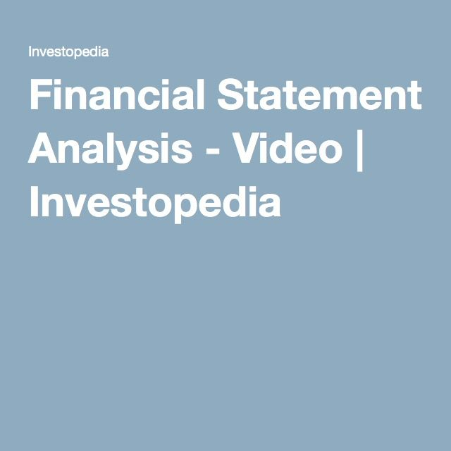 Top 25+ Best Financial Statement Analysis Ideas On Pinterest