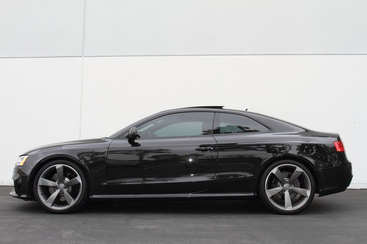 Black Audi RS5 Lowered with JRZ/GMG RS1 Coilover Suspension System