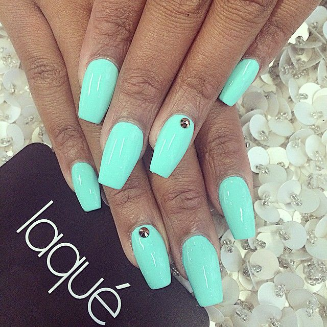 Contact Support Coffin Shape Nails Green Nails Mint Green Nails