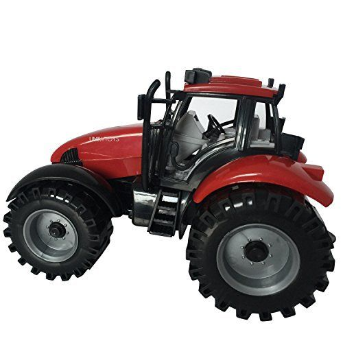 Tractor Toys for Boys 1 Large 17 x 10 CM tractor comes window sealed box;Friction Powered Tractor farm toy for toddlers kids;Big wheel tractor comes in 3 colours assorted selection;Great toy for chris...