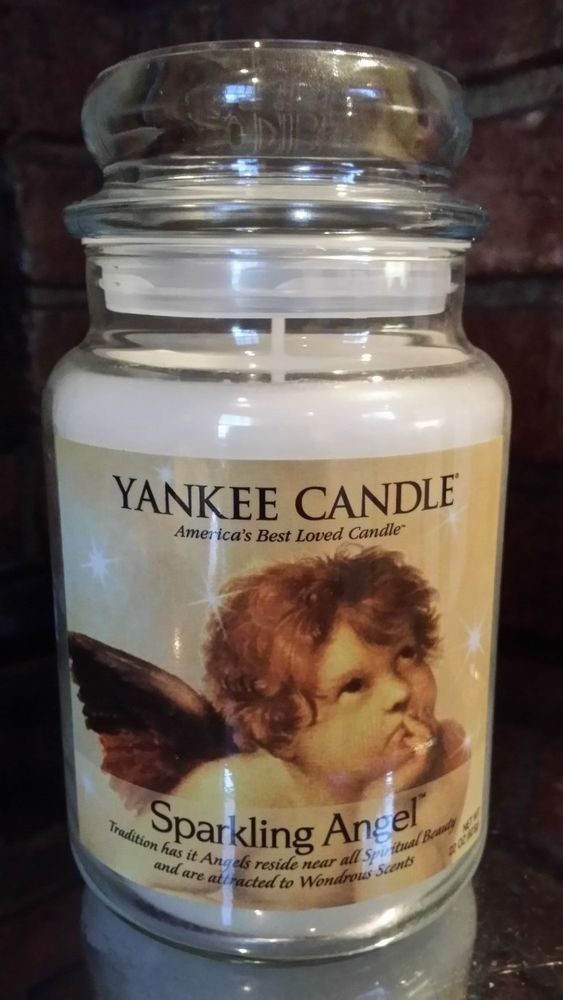 YANKEE CANDLE VERY RARE LARGE JAR - VHTF - SPARKLING ANGEL - LAST ONE -