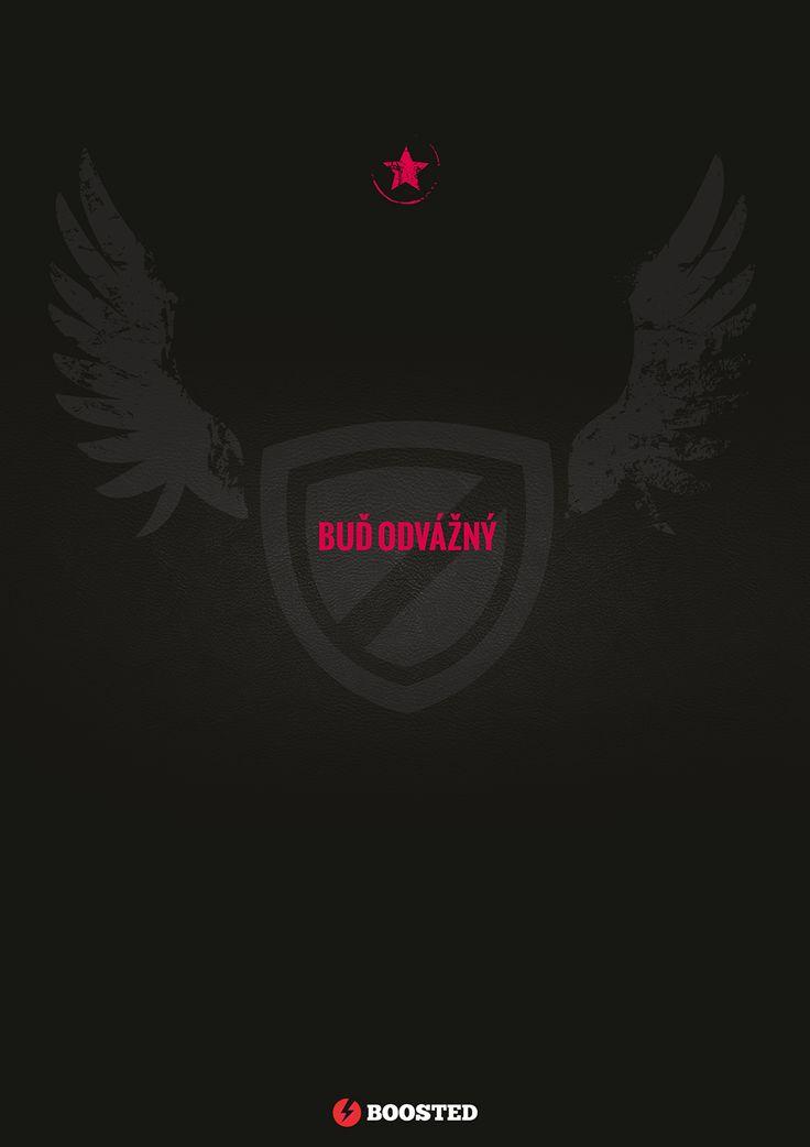Motivační plakát Buď odvážný (Česky)