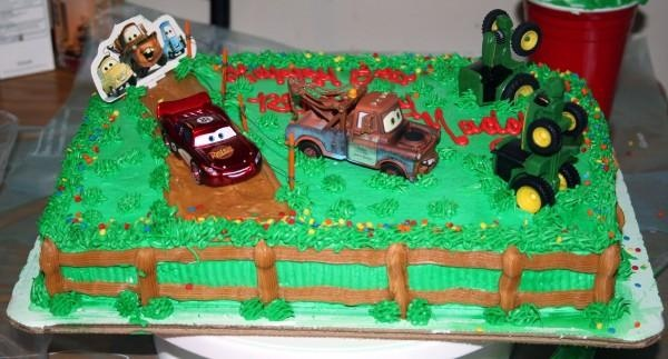 lightning mcqueen and mater cake - Google Search