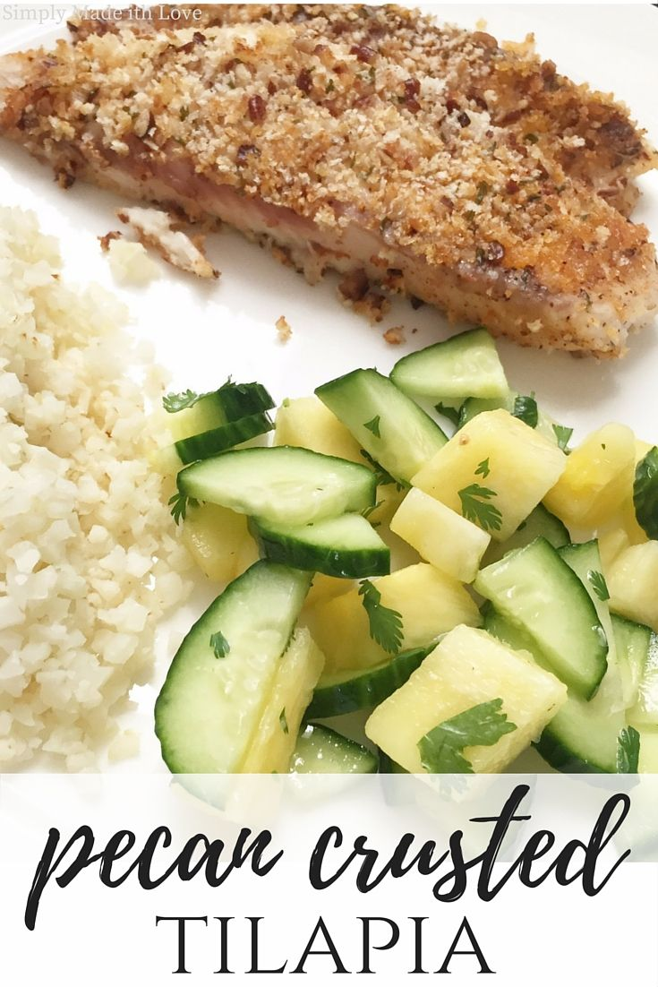 One dish that is on weekly rotation over the summer months is pecan crusted tilapia. Tilapia is a go to fish for me, it's easy to cook and ...