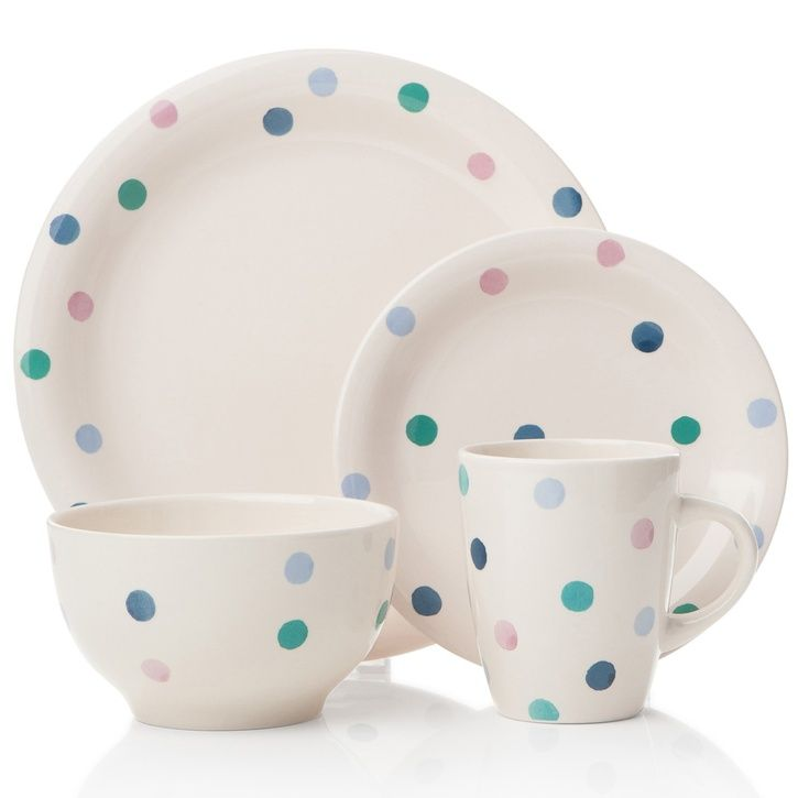Essential Collection Dining Spotty 16pc Dinner Set | Prezola - The Wedding Gift List