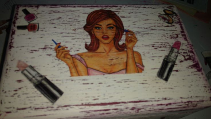 Caja de Maquillaje Vintage/Pin up
