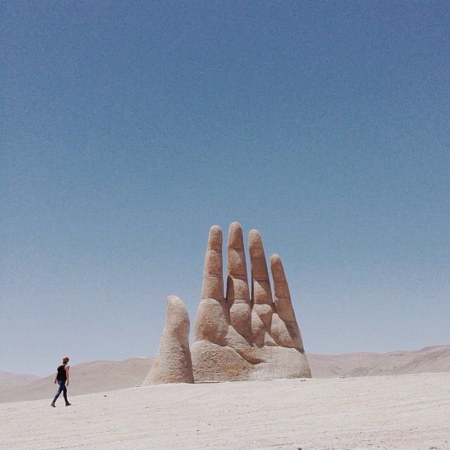High Five!  Location: La Mano del Desierto - Antofagasta, Chile.  Photo Credit: @alexstrohl