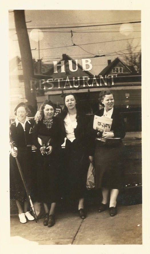 "Vintage Snapshot ""At The Hub"" Hub Restaurant Reflection Window Newspaper Found Vernacular Photo by SunshineVintagePhoto on Etsy https://www.etsy.com/listing/472845811/vintage-snapshot-at-the-hub-hub"