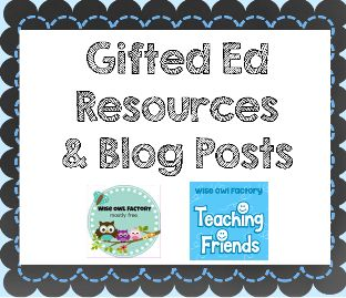 #gifted ed, resources, blog posts, articles, web sites, books, workshops, collaborative Pinterest board, http://pinterest.com/wiseowlfactory/gifted-ed-resources-and-info/
