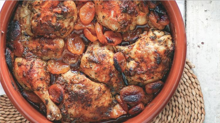 """Roasted Garlic and Apricot Chicken (""""sweet and sticky,"""" """"perfect for winter months"""")"""