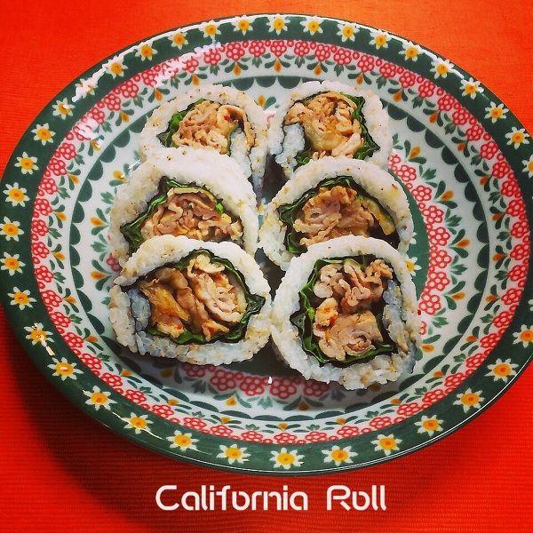 豚キム入りカリフォルニアロール by くっく☆マニアン   レシピサイト「Nadia   ナディア」プロの料理を無料で検索