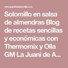 Solomillo en salsa de almendras Blog de recetas sencillas y económicas con Thermomix y Olla GM La Juani de Ana Sevilla