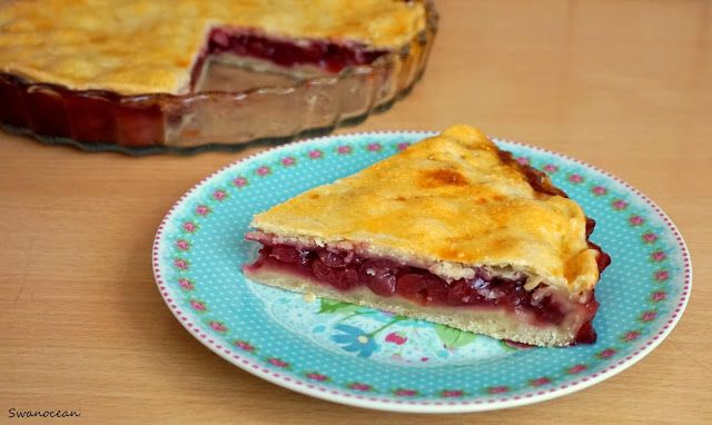 Swanocean: Healthy sugar free cherry pie-Υγιεινή κερασόπιτα χωρίς ζάχαρη