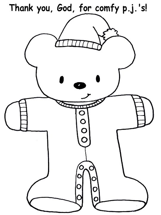 pajama theme coloring pages - photo#3