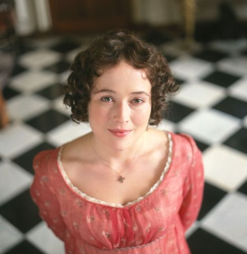 Jennifer Ehle... my favorite Jane Austen.  I am a hopeful romantic, not a hopeless romantic and the BBC Version of Pride and Prejudice is my favorite!