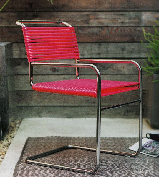 Thrift Store Rescue: DIY Rubber Hose Chair – For the Home