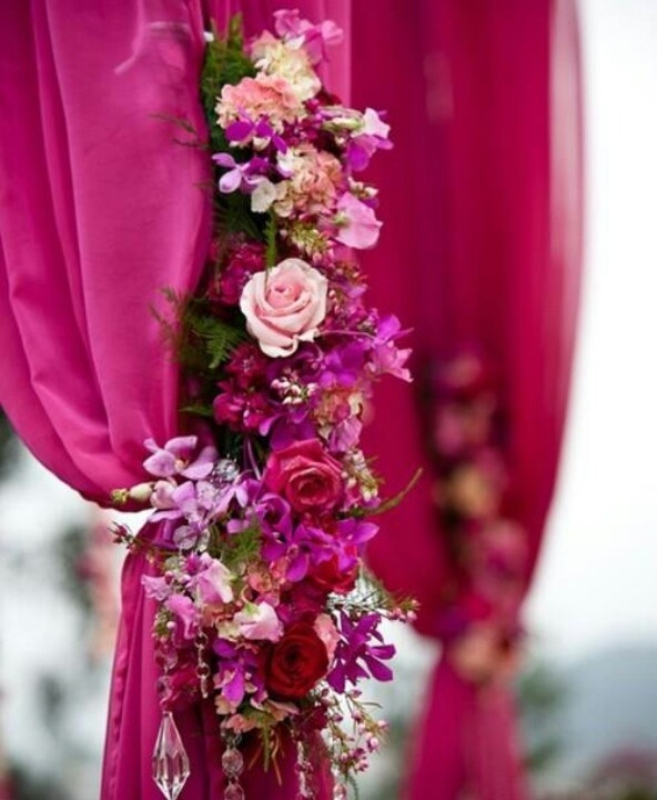 Purple Wedding Altar Flowers: 17 Best Images About Purple And Fuschia On Pinterest
