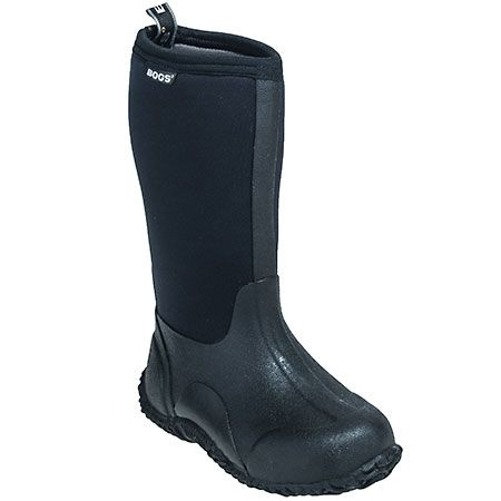 Bogs Kids' Black Waterproof 52063 Insulated Classic High Boots