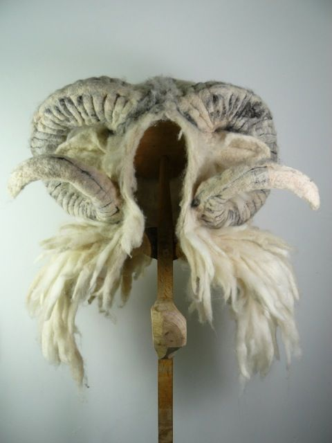 I have one of Barbara Keal's (Artist) hats, but I keep lusting after more..... like this gorgous rams head