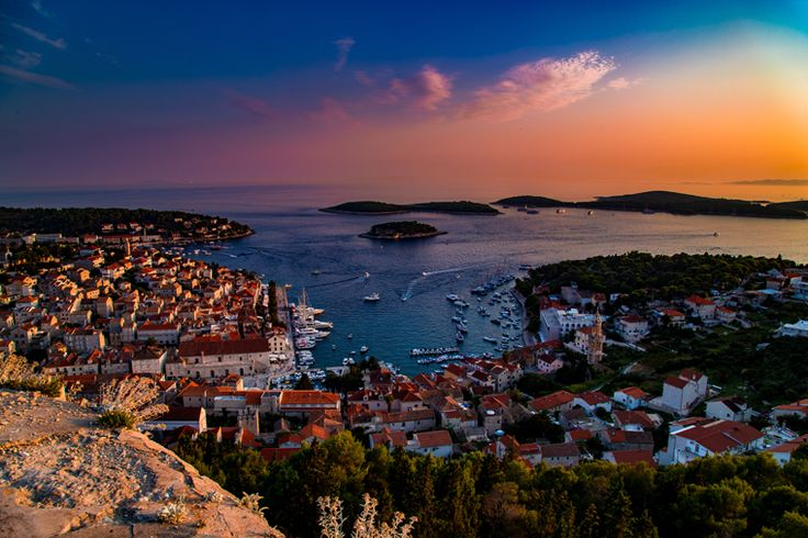 If you visit Croatia, you simply have to make it to Hvar Island. A cheap ferry ride away from Dubrovnik, Hvar Island is a charming port city.