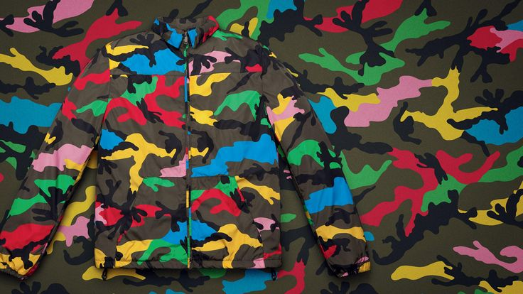 "Iconic Italian fashion house, Valentino, makes another garish statement in camouflage this season…this time revisiting the motif with popping paint splashes for Spring/Summer 2015. ""Camupsychedelic"" is the new capsule collection's..."