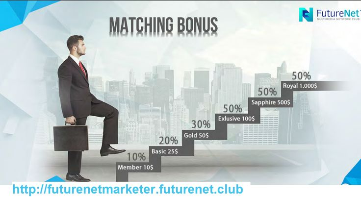 #Matchingbonus :100% Matching bonus Make money online with the FutureNet Club 100% matching bonus!.The most brilliant invention since the invention of network marketing itself: the 100% Matching Bonus. Network marketing is about supporting others to become successful. The reward for this support is the income, which you earn thanks to the revenues of others. With the Matching Bonus, Futurenet offers you the ultimate reward for your support of your partners to make them successful and earn…