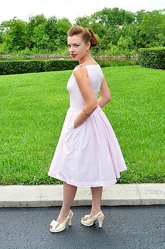 1950s style sundress - sewing TUTORIAL