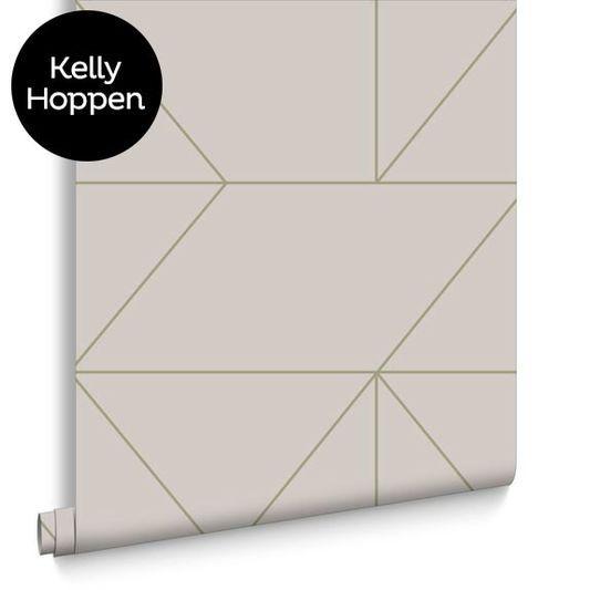 Geo Taupe & Khaki Wallpaper, , large