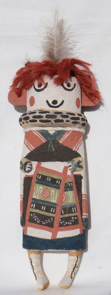 "Ed Seechoma Hopi Indian 9"" Old Style Hahayi Mana Katsina Kachina Doll | Collectibles, Cultures & Ethnicities, Native American: US | eBay!"
