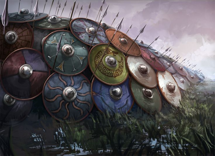Happy Tuesday!!! (Glad Tirsdag!!!) NORSE CONTENT!!!! Viking shield wall.