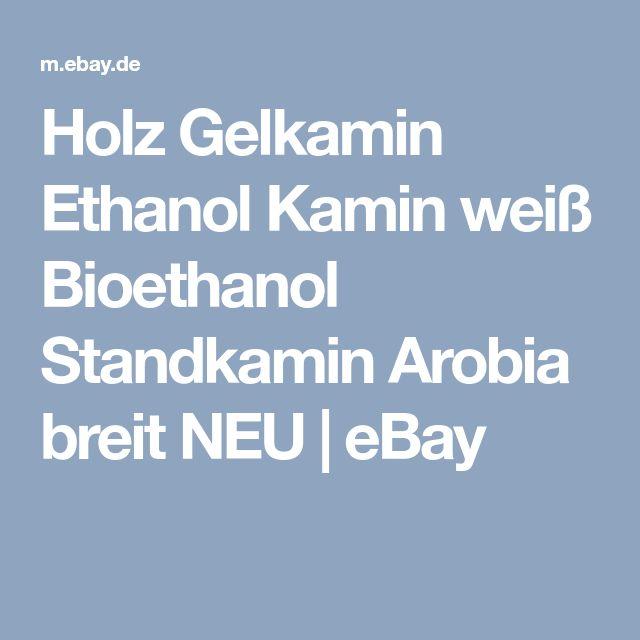Holz Gelkamin Ethanol Kamin weiß Bioethanol Standkamin Arobia breit NEU | eBay