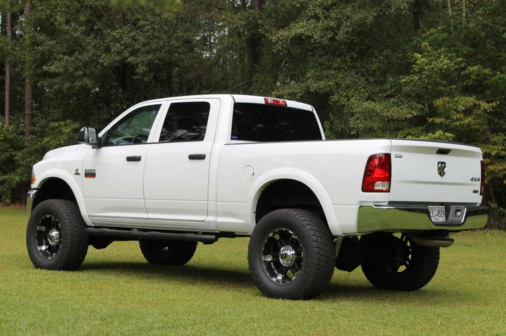 lifted dodge truck white 2012 ram 2500 st crewcab at 373s rough country 5 inch lift lifted trucks pinterest nice trucks and wheels - White Dodge Ram 2500 Lifted