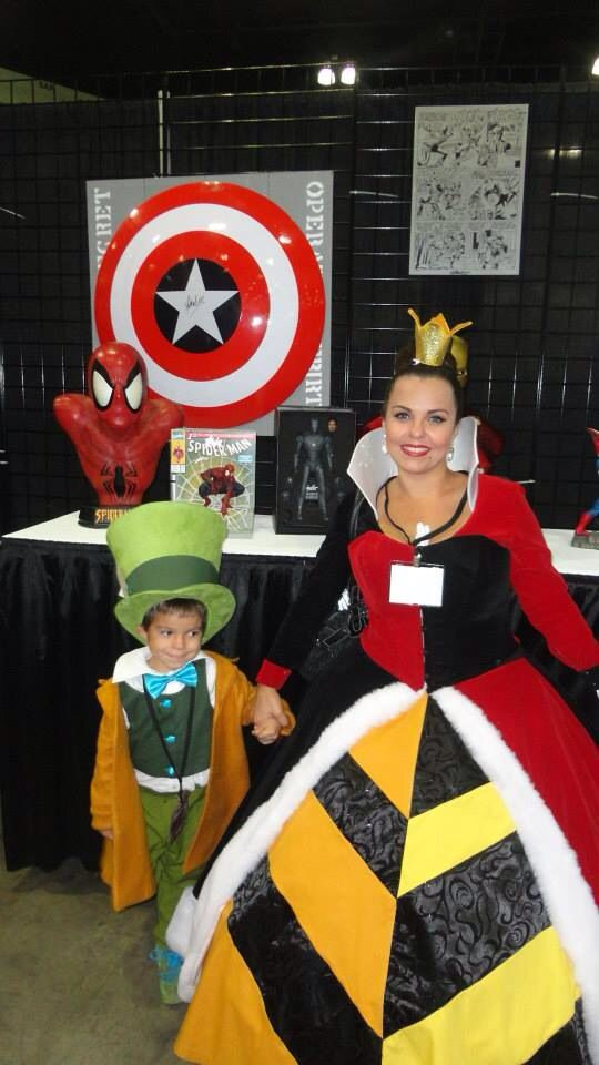 The Queen Of Hearts and baby Mad Hatter