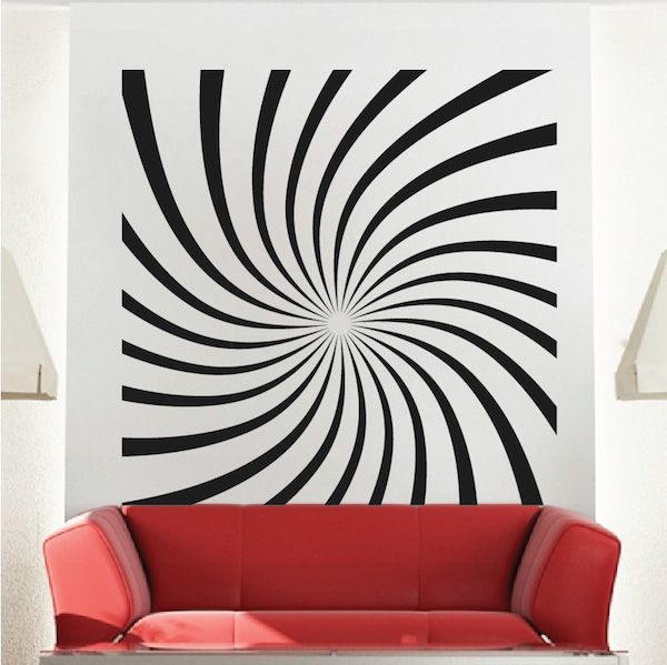 hypnotic wall decal trendy wall designs - Designs For Walls